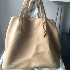 Roots Amelia leather tote